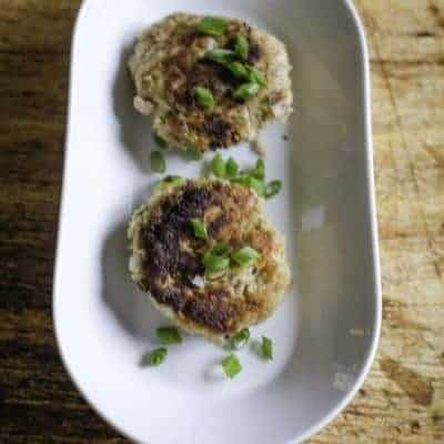 gluten free krabby patty - tuna patty