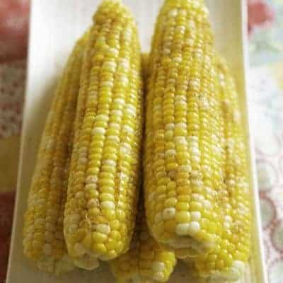 Corn on the cob with old bay seasoning and butter