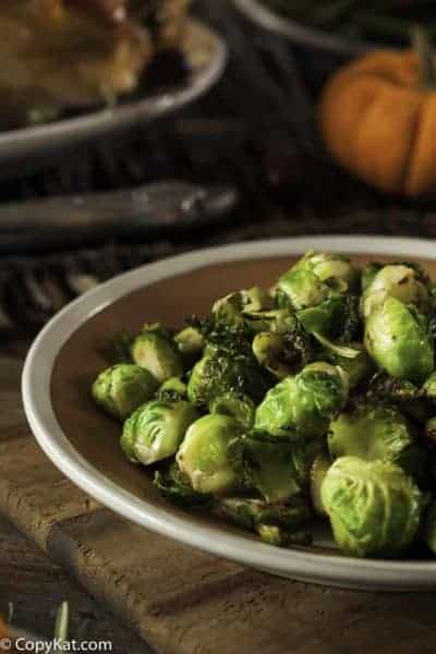 brussel sprouts that were roasted in the oven,