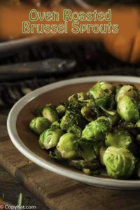 brussel sprouts made in the oven