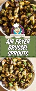 Collage of air fryer brussel sprouts photos