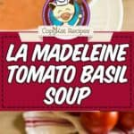 homemade tomato basil soup photo collage