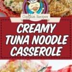 creamy tuna noodle casserole photo collage