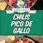 Chili's pico de gallo photo collage