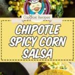 chipotle corn salsa photo collage
