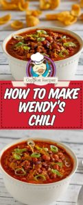 bowls of wendy's chili