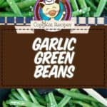 garlic green beans photo collage