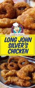homemade Long John Silvers chicken planks photo collage