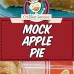 a slice of mock apple pie