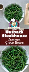 Collage of homemade copycat steamed green beans photos.