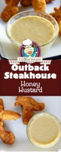 homemade copycat Outback Steakhouse honey mustard served with chicken tenders photo collage