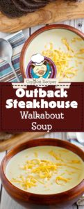 Collage of homemade copycat Outback Steakhouse Walkabout Soup photos