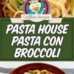 pasta con broccoli photo collage