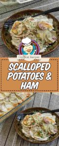 scalloped potatoes and ham baked in the oven