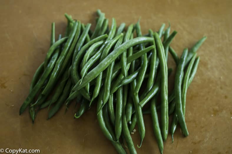 cleaned snap beans