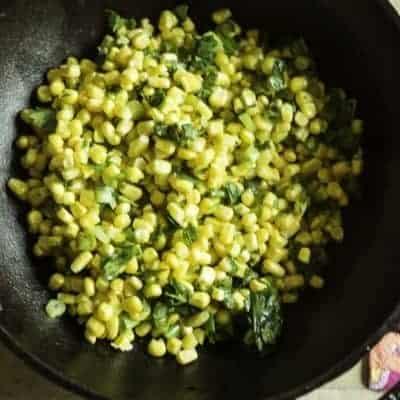spicy corn salsa in a bowl