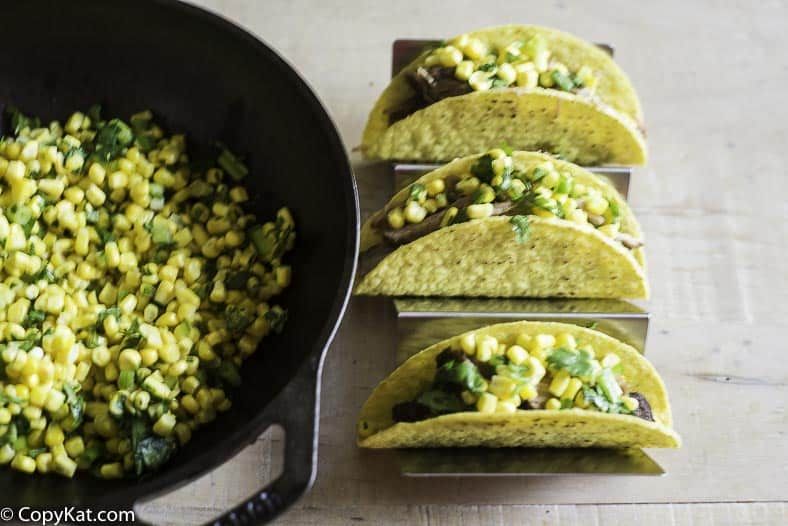 Chipotle Mexican Grill corn salsa on tacos