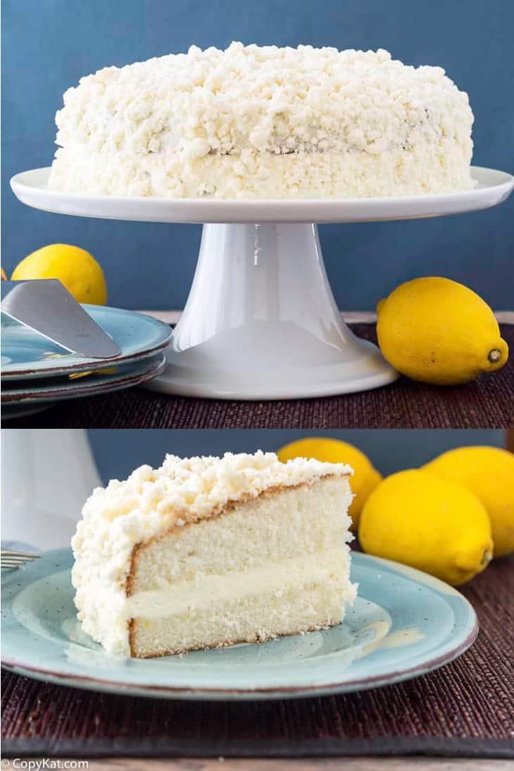 Homemade Olive Garden Italian Cream Cake photo collage
