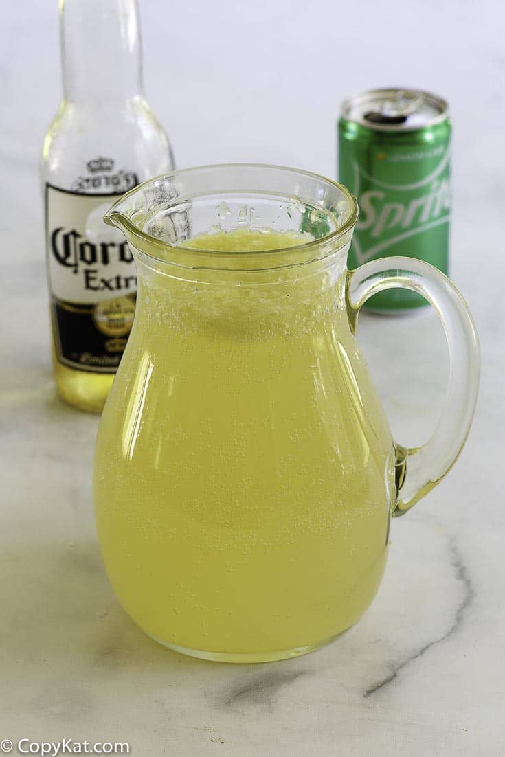 a margarita made with beer, limeade, and sprite
