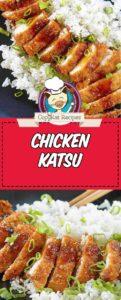 chicken katsu served with rice