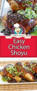 Hawaiian chicken shoyu photo collage