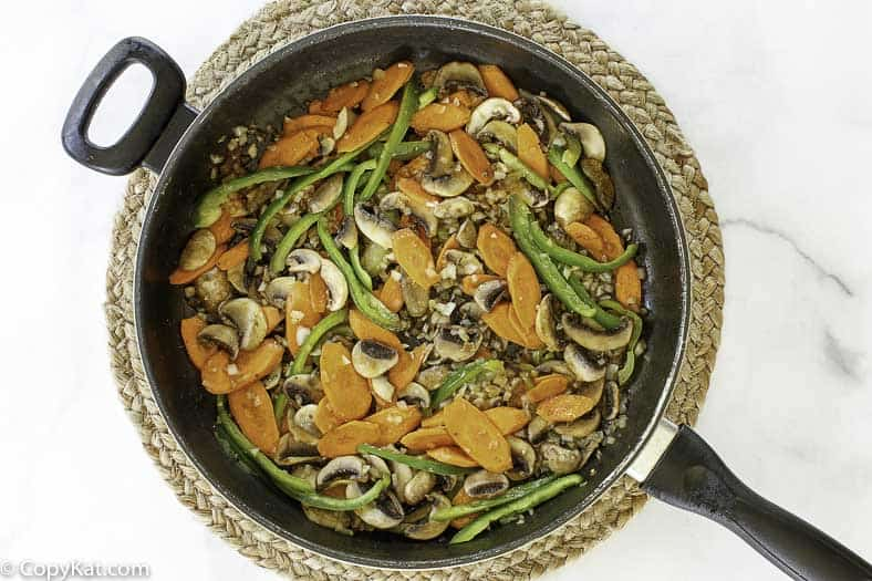 vegetables in a skillet