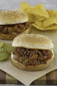 two homemade sloppy joes