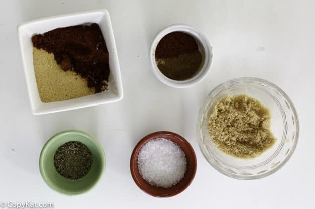 spices in a burger seasoning mix