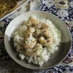 shrimp scampi made in the microwave