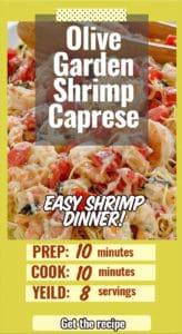 shrimp pasta dinner like the olive garden