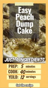 a dump cake made with peach pie filling