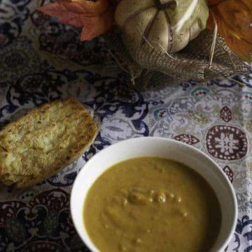 a pumpkin soup seasoned with curry