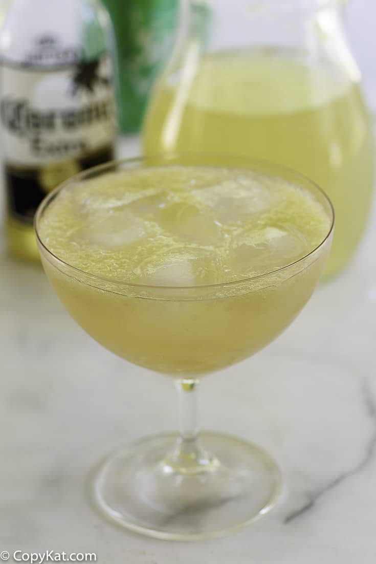 a refreshing red neck margarita made from beer