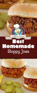 homemade sloppy joes photo collage