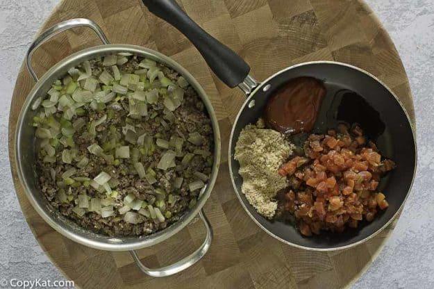 ground beef and sloppy joe sauce
