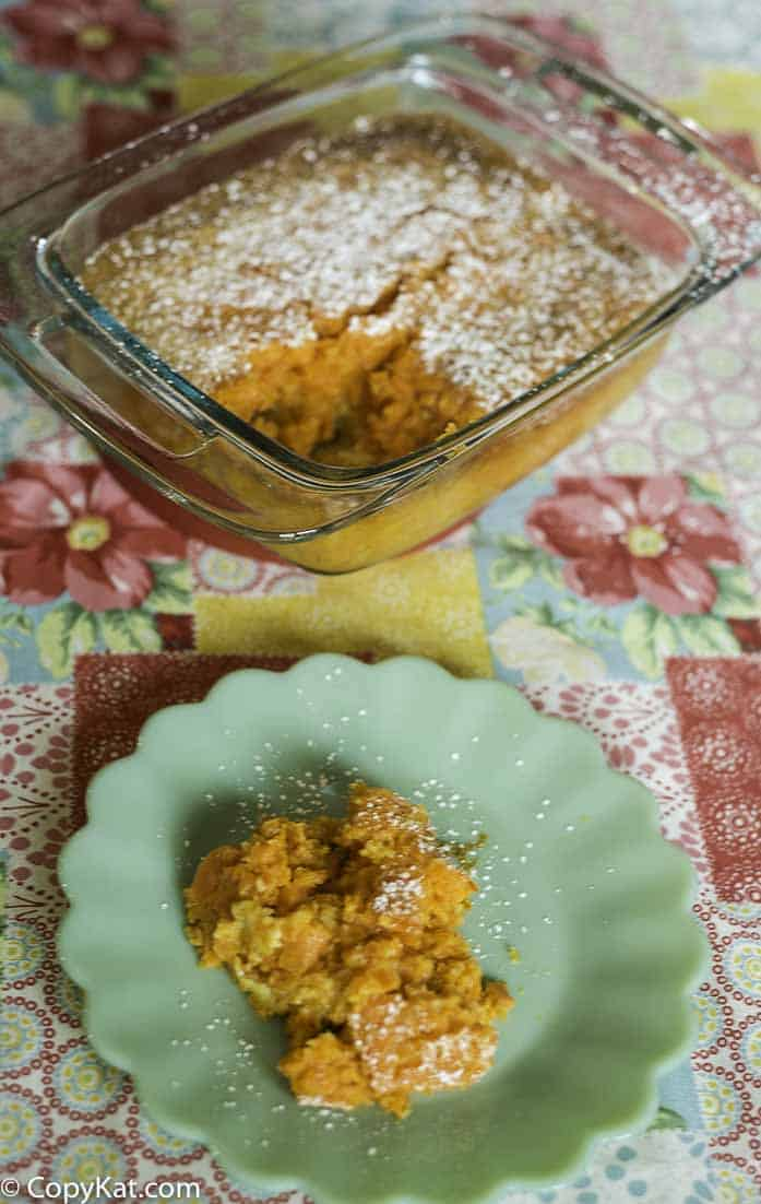 classic carrot pudding made with fresh carrots
