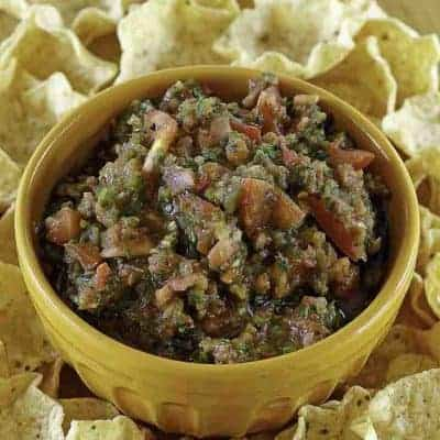 homemade salsa and tortilla chips