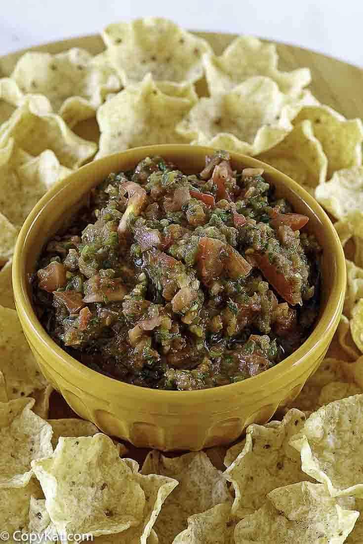 homemade salsa with tortilla chips