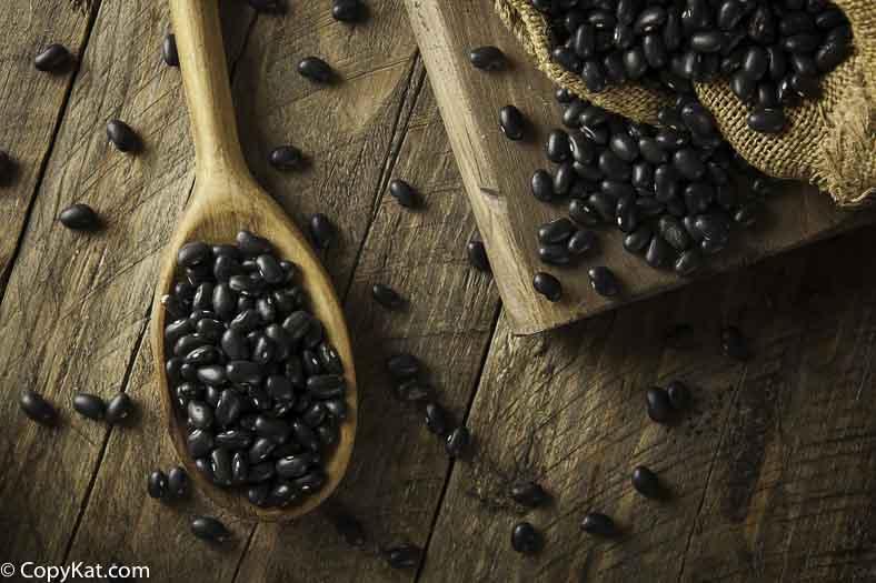 sorting black beans
