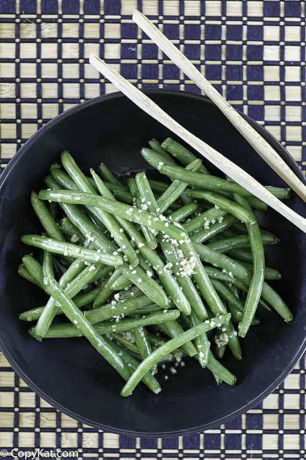 fresh green beans with garlic butter