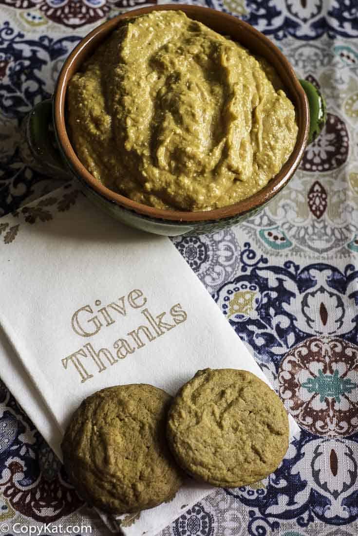 homemade ginger snap cookies and pumpkin pie dip