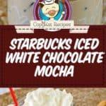 iced white chocolate mocha photo collage