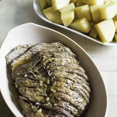 a perfectly seasoned and tender roast beef cooked in a pressure cooker