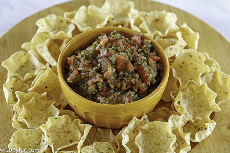 copycat pappasitos fresh roasted salsa and tortilla chips