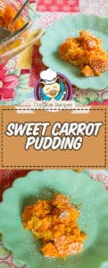 carrot pudding photo collage