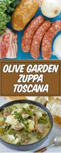 a bowl of copycat Olive Garden Zuppa Toscana