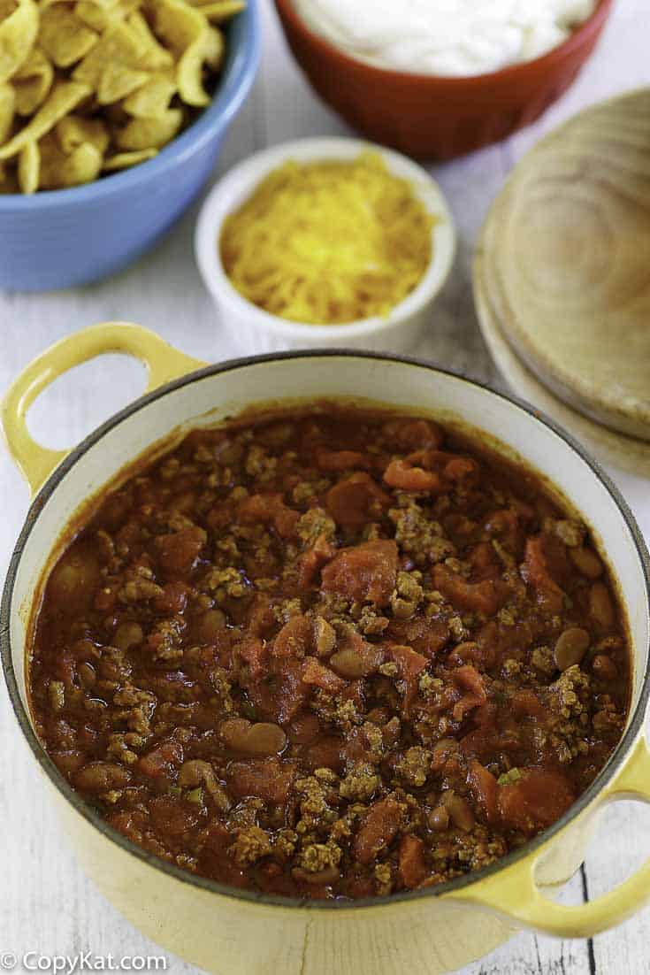 a pot of hoosier chili