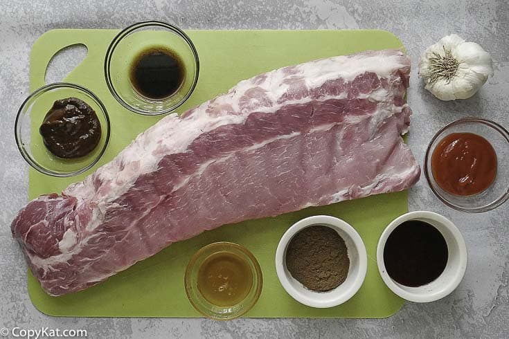 pork ribs and spices for cooking chinese spare ribs
