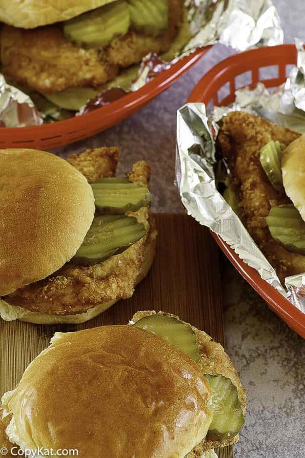 four copycat chick fil a sandwiches