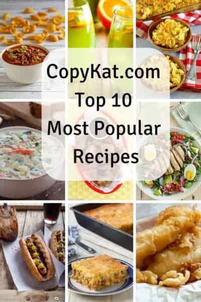 A collage of the most popular CopyKat.com Recipes
